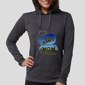 U.S. Army Mom Dog Tags Womens Hooded Shirt