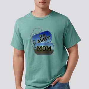 U.S. Army Mom Dog Tags Mens Comfort Colors Shirt