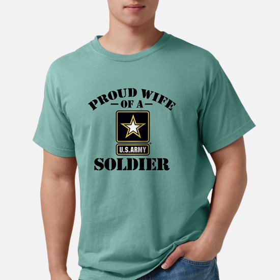 proudarmywife33 Mens Comfort Colors Shirt