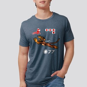 flying-tigers- drk Mens Tri-blend T-Shirt