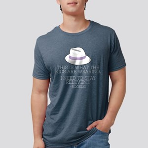 Lilac Fedora Dark Mens Tri-blend T-Shirt