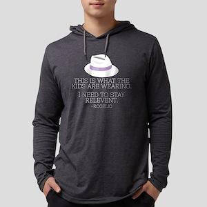 Lilac Fedora Dark Mens Hooded Shirt