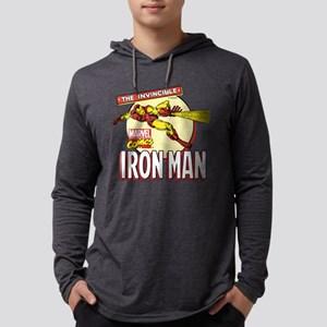 Retro Iron Man Mens Hooded Shirt