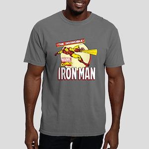Retro Iron Man Mens Comfort Colors Shirt
