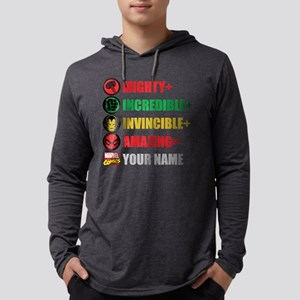 Mighty Incredible Invincible Ama Mens Hooded Shirt