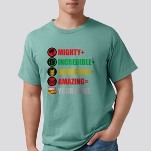 Mighty Incredible Invinc Mens Comfort Colors Shirt