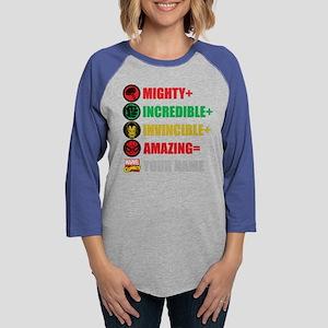 Mighty Incredible Invincible A Womens Baseball Tee
