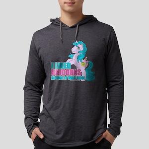 MLP Retro Like Unicorns Dark Mens Hooded Shirt
