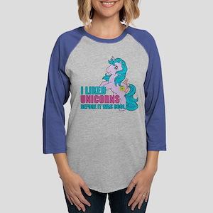 MLP Retro Like Unicorns Dark Womens Baseball Tee