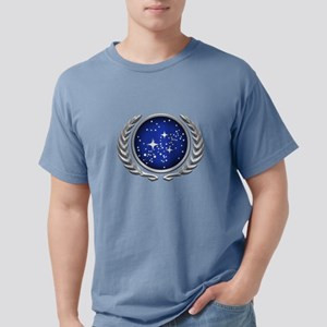 Star Trek UFP silver Mens Comfort Colors Shirt