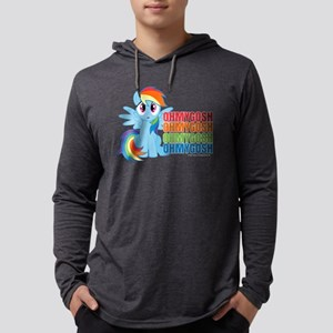 MLP Rainbow Dash OMG Dark Mens Hooded Shirt