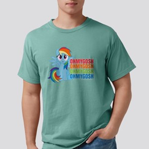 MLP Rainbow Dash OMG Dar Mens Comfort Colors Shirt