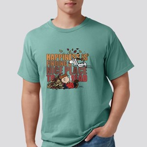 Peanuts Fall Mens Comfort Colors Shirt