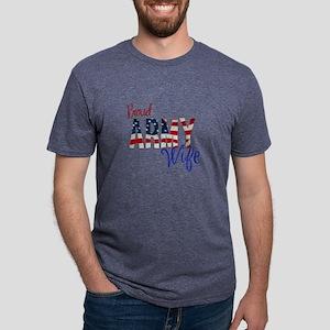 Proud Patriotic Army Wife Mens Tri-blend T-Shirt