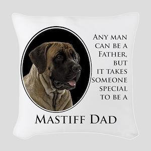 Mastiff Dad Woven Throw Pillow