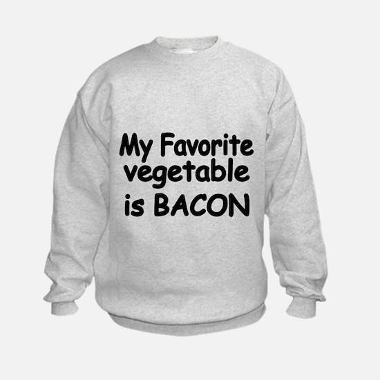 MY FAVORITE VEGETABLE IS BACON Sweatshirt