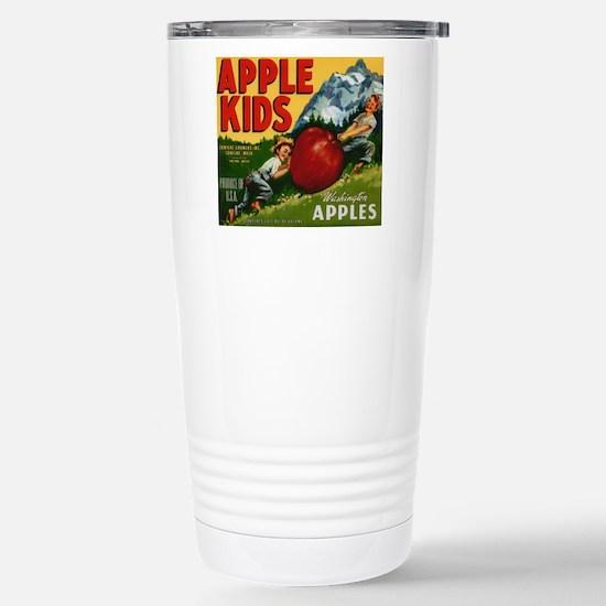 Vintage Fruit Vegetable Crate Label Travel Mug