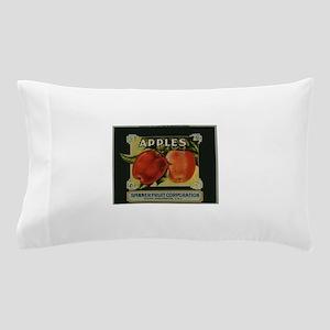 Vintage Fruit Vegetable Crate Label Pillow Case