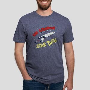 USS Enterprise- DESIGN DIST Mens Tri-blend T-Shirt