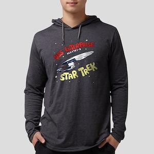USS Enterprise- DESIGN DISTRESSE Mens Hooded Shirt