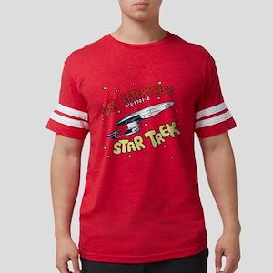 USS Enterprise- DESIGN DISTRES Mens Football Shirt