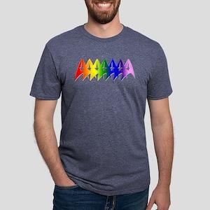 Star Trek Rainbow Pride Bev Mens Tri-blend T-Shirt