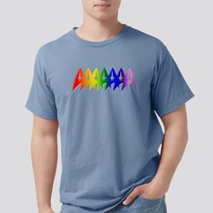 Star Trek Rainbow Pride  Mens Comfort Colors Shirt