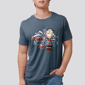 Linus - Happy Independence  Mens Tri-blend T-Shirt