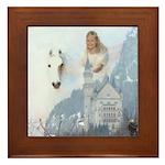 A#223 winged horse : castle : Framed Tile