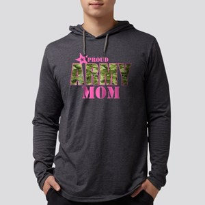 Camo Proud Army Mom Mens Hooded Shirt
