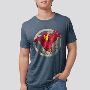 Iron Man Repulsor Mens Tri-blend T-Shirt