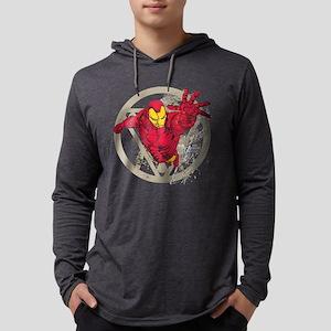 Iron Man Repulsor Mens Hooded Shirt