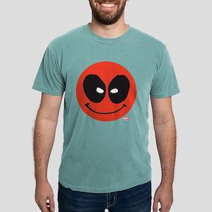 Deadpool Smiley Face Dar Mens Comfort Colors Shirt