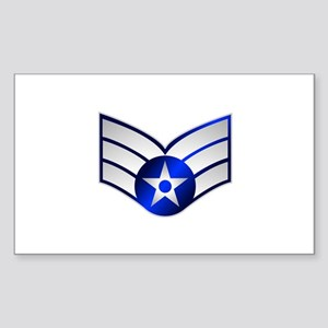 Air Force Senior Airman Sticker (Rectangle)