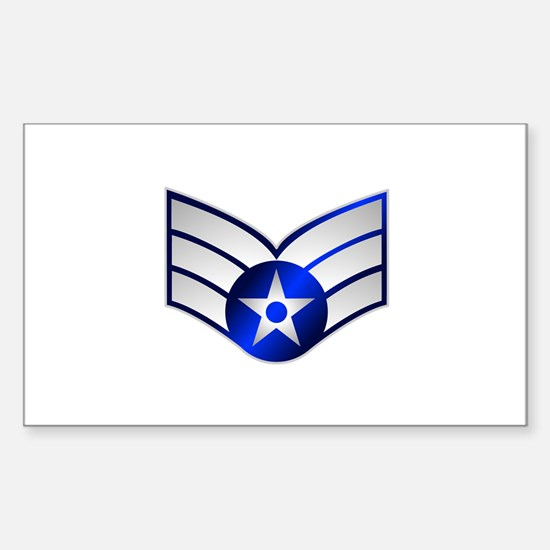 Air Force Senior Airman Sticker (Rectangle)