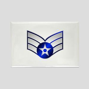 Air Force Senior Airman Rectangle Magnet