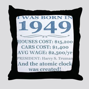 Birthday Facts-1949 Throw Pillow