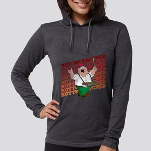 Family Guy Buttscratcher Dark Womens Hooded Shirt