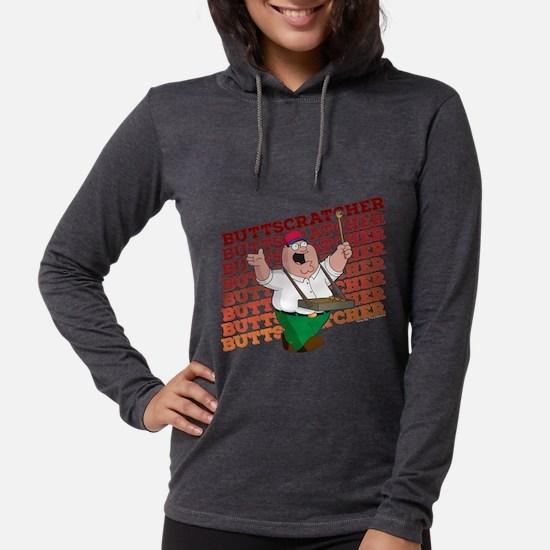 Family Guy Buttscratcher Dark Womens Hooded Shirt