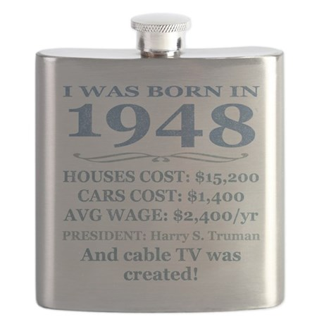 Birthday Facts-1948 Flask