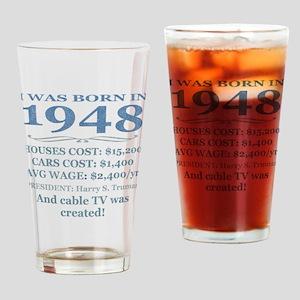 Birthday Facts-1948 Drinking Glass