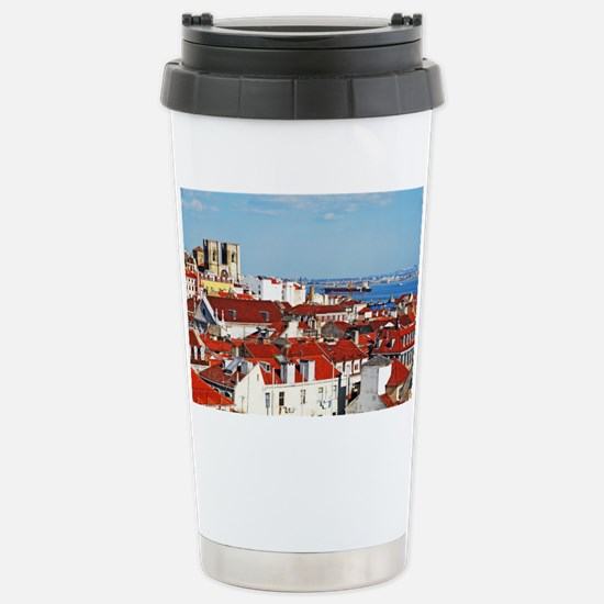 Lisbon cityscape with Se Cathed Stainless Steel Tr