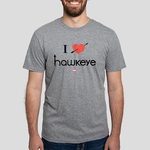 I Heart Hawkeye Red Light I Mens Tri-blend T-Shirt