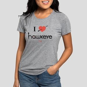 I Heart Hawkeye Red Light Womens Tri-blend T-Shirt