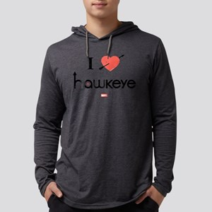 I Heart Hawkeye Red Light Items Mens Hooded Shirt