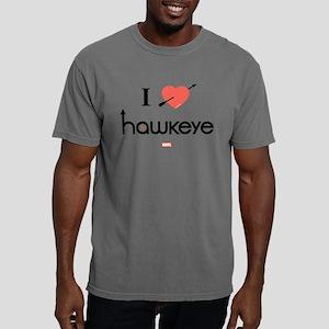 I Heart Hawkeye Red Ligh Mens Comfort Colors Shirt