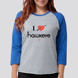 I Heart Hawkeye Red Light Item Womens Baseball Tee