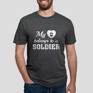 HeartBelongsSoldier1E Mens Tri-blend T-Shirt