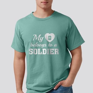 HeartBelongsSoldier1E Mens Comfort Colors Shirt