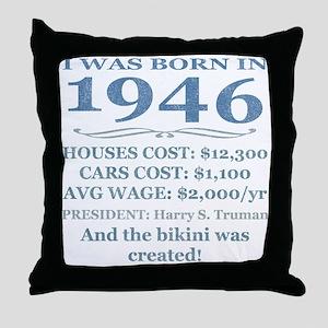 Birthday Facts-1946 Throw Pillow